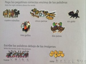 Spanish Club by Rush Sharp and Rosi McNab, published by Collins, 2009. Perfect for starting kids as young as five or six learning Spanish.